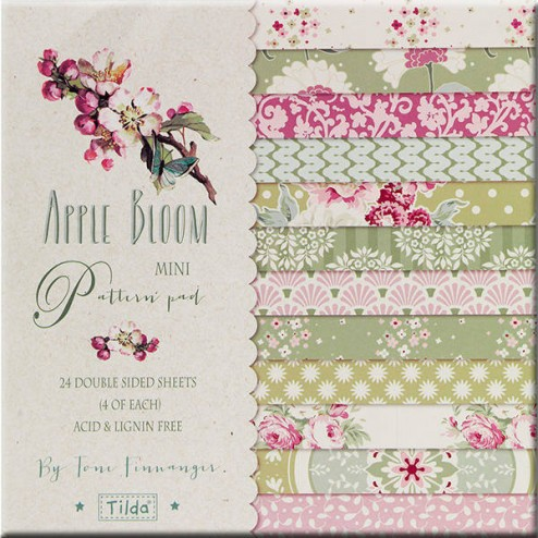 Papeles Scrapbooking Apple Bloom - Tilda (15 x 15)