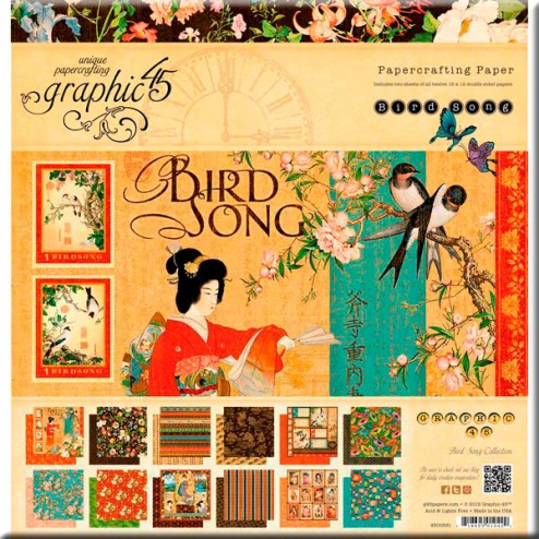 Papeles Scrapbooking Bird Song (30,5x30,5) - Graphic