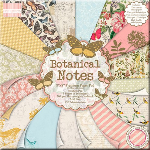 Papeles Scrapbooking - Botanical Notes (20 x 20)