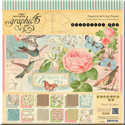 Papeles Scrapbooking - Botanical Tea (30,5x30,5)