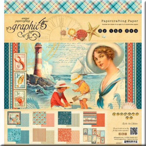 Papeles Scrapbooking - By The Sea (30,5x30,5)