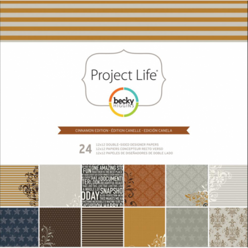 Papeles Scrapbooking Cinnamon Edition (30,2x30,5) - Project Life