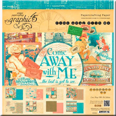 Papeles Scrapbooking - Come Away with me (30x30)