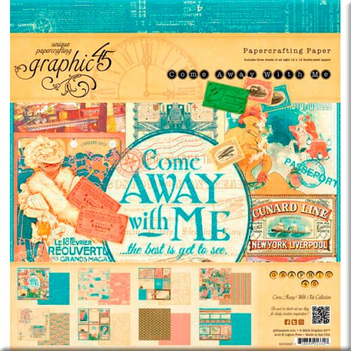 Papeles Scrapbooking - Come Away With Me