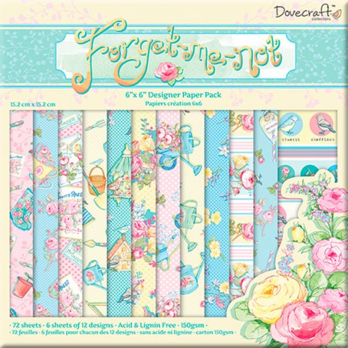 Papeles Scrapbooking - Dovecraft Forget Me Not (15x15)
