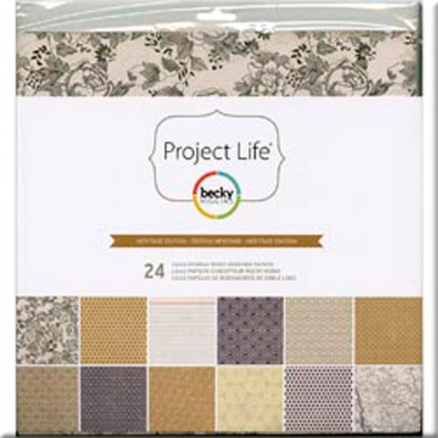 Papeles Scrapbooking Heritage Edition (30,2x30,5) - Project Life