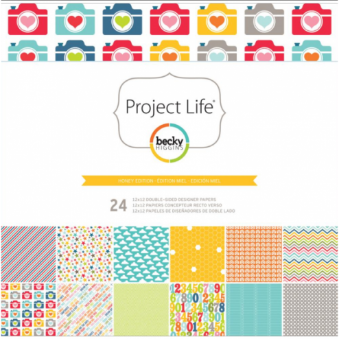Papeles Scrapbooking Honey Edition (30,2x30,5) - Project Life
