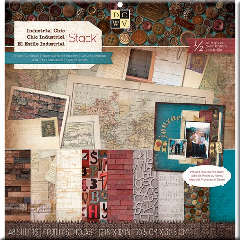 Papeles Scrapbooking - Industrial Chic (30,5x30,5)