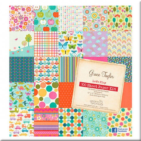 Papeles Scrapbooking - Let's Play