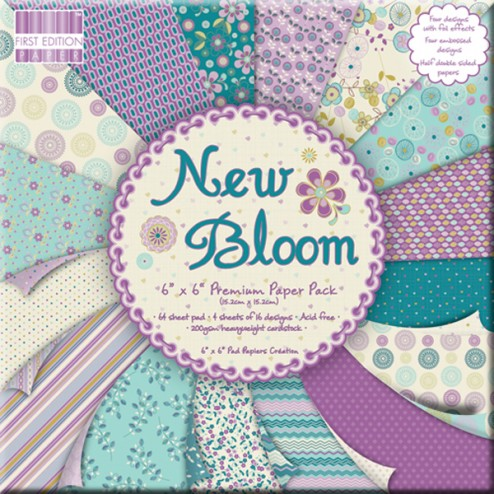 Papeles Scrapbooking - New Bloom (15x15)