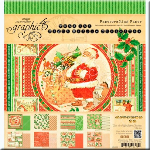 Papeles Scrapbooking - The Night Before Christmas (20x20)