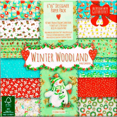 Papeles Scrapbooking - Winter Woodland (15x15)