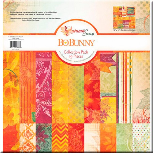 Papeles y Adhesivos Scrap Autumn Song (30,5x30,5) - BoBunny