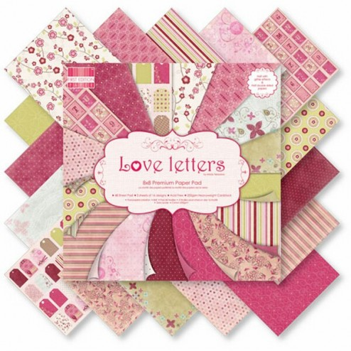 Papeles Scrapbooking - Love Letters - 30x30