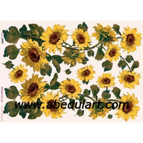 Papel decoupage - Girasoles (2)