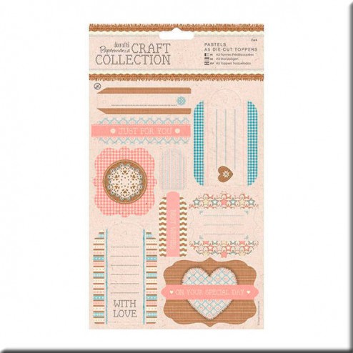 Etiquetas precortadas - Craft Collection - Pastels (A5)