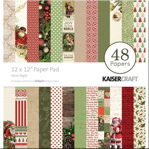 Papeles Scrapbooking Silent Night (30x30)