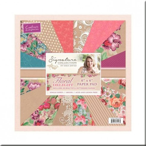 Papeles Scrapbooking Floral Delight (15x15)
