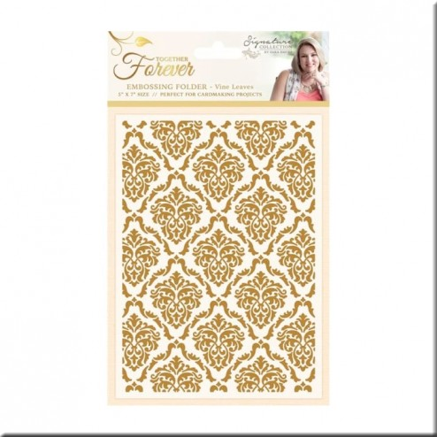Carpeta Embossing Decadent Damask