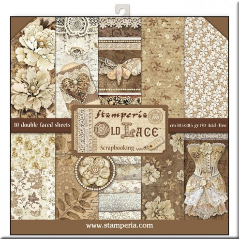 Papeles Scrap Old Lace Stamperia (30x30)