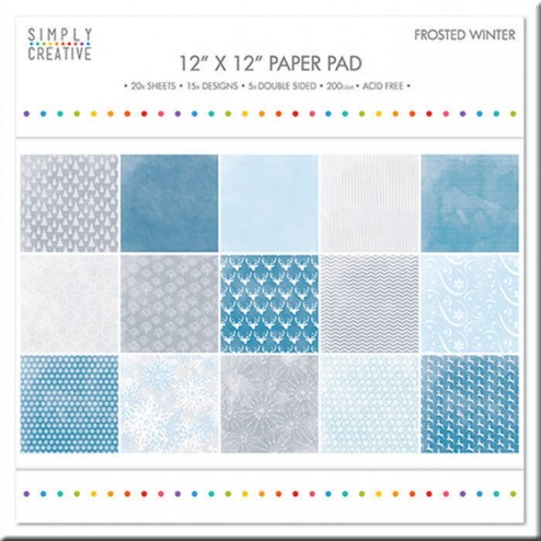 Papeles Scrapbooking Frosted Winter (30 x 30)