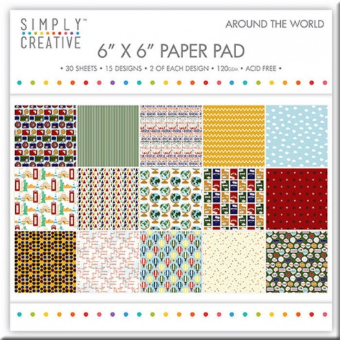 Papeles Scrapbooking Around The World (15x15)
