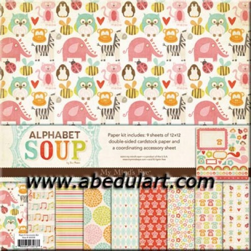 Scrapbooking - Block Alpha Soup Girl