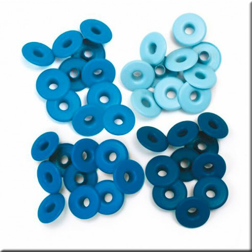 Scrapbooking - Remaches azules (13 mm)