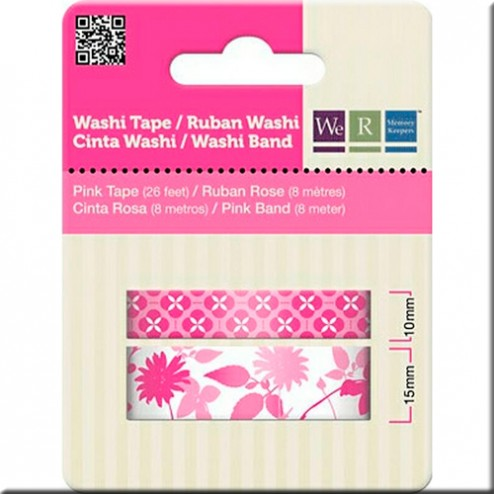 Set 2 Washi Tape - Motivos Fucsias