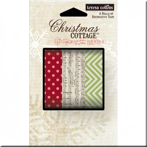 Set 3 Washi Tape - Christmas Cottage