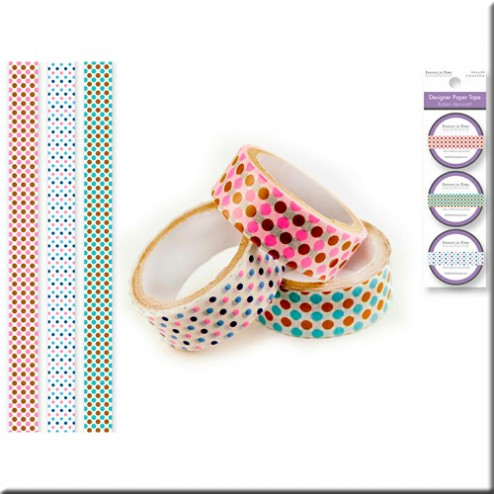 Set 3 Washi Tape - Lunares