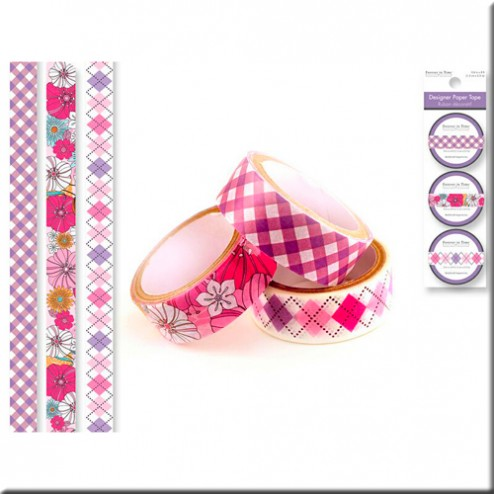 Set 3 Washi Tape - Tonos Morados