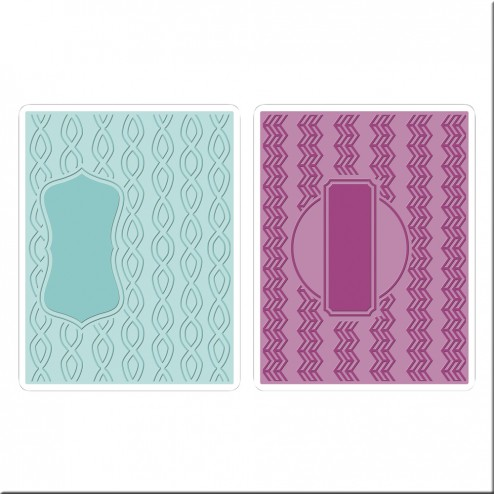 Set Carpetas Embossing Zig Zag y Marco
