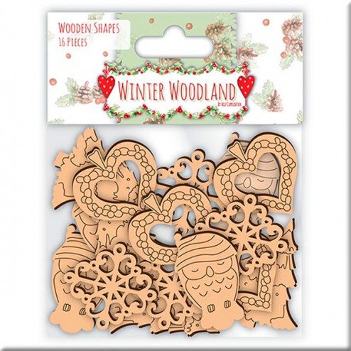 Siluetas de madera - Winter Woodland