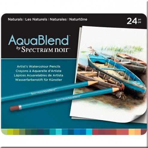 Set 24 Lápices Acuarelables AquaBlend Spectrum Noir - Naturals