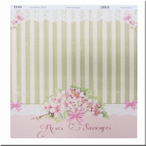 Papel Scrapbooking Roses Sauvages (30 x 30)