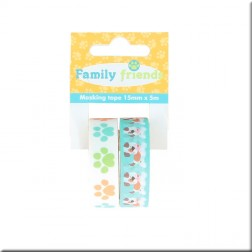 Washi Tapes Family Friends Dogs (15mmx5m)