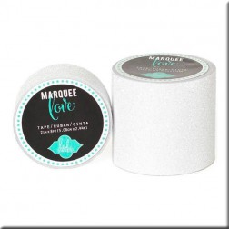 Marquee Love - Washi Tape Glitter Blanco (2,22 cm)