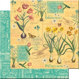 Papel Scrapbooking Abril Flourish