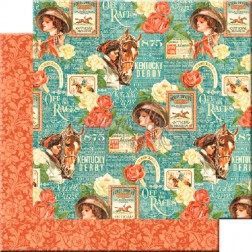 Papel Scrap Elegance running (30x30) Off to the Races
