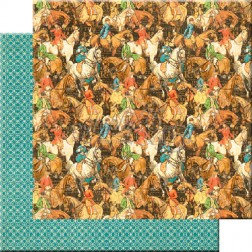 Papel Scrap Hot to trot (30x30) Off to the Races