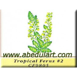 Plantilla estarcido - Planta tropical (25 cm)