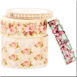 Set 4 Washi Tapes Misty Rose Prima