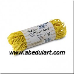 Rafia Natural color amarilla