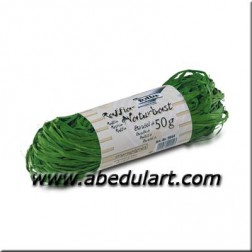 Rafia Natural color verde