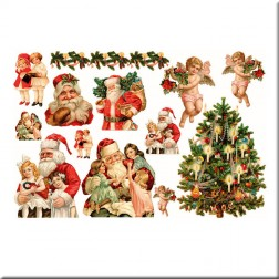 Papel decoupage - Victorian christmas (25 x 35)
