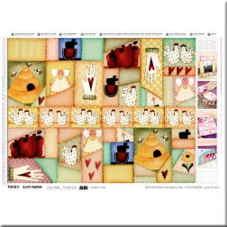 Papel decoupage - Country Patchwork I (50 x 70)