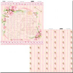 Papel para Scrapbooking – Paris en Rose
