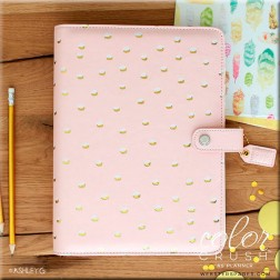 Color Crush Planner A5 Rosa con Gold Foil Dots.