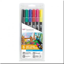Set 6 Rotuladores Tombow Colores Primarios